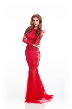Andjelka Tomasevic, Miss Serbia, is ready to stir things up in this striking gown.