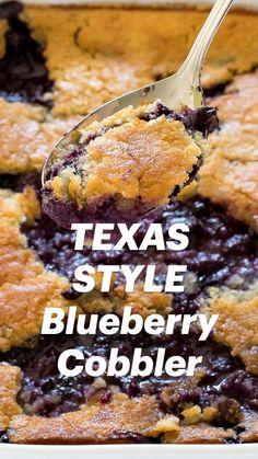 Blueberry Cobbler Recipes, Blackberry Cobbler, Blueberry Cake, Fruit Recipes, Fall Recipes, Dessert Recipes, Cooking Recipes, Hot Desserts, Summer Desserts