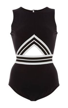 Varsity High Neck Maillot by Karla Colletto for Preorder on Moda Operandi