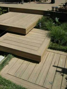 deck steps, I've never seen anything like this. I Love It!!!