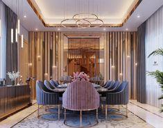 Modern Office on Behance Modern Dining Room Tables, Elegant Dining Room, Luxury Dining Room, Dining Room Design, Dream House Interior, Luxury Homes Interior, Home Interior Design, Fancy Living Rooms, Living Room Decor