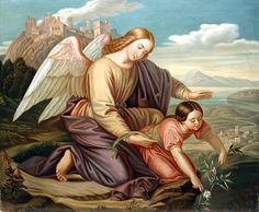 Clara Hildl, Guardian Angel, (XIX Century, German)