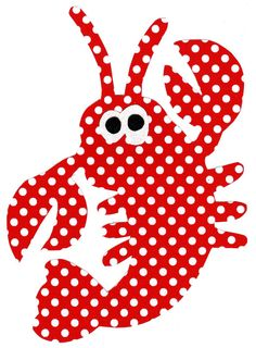 Lobster iron on fabric applique DIY large by patternoldies on Etsy, $3.00