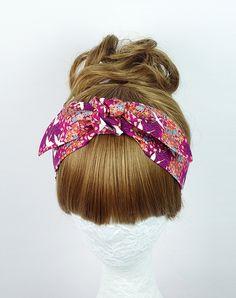 Japanese Flying Crane Twist Turban Knot headband Tie up by ogood