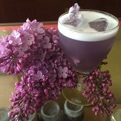 The Lilac cocktail at The Hollows in Saskatoon
