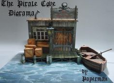 Click on link to download free templates.  http://papermau.blogspot.com.br/2013/02/the-pirate-cove-diorama-paper-model-by_13.html