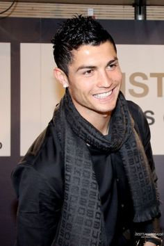 Oh my, Cristiano Ronaldo. Love that smile!