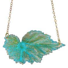Fab.com | Brass Begonia Necklace http://ariellesastrology.com