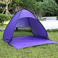 5a35fa76599 2 Person Beach Tent Automatic Pop Up With UV-proof Ultralight Folding Tent  For Outdoor Beach Folding Tent Camping Tents