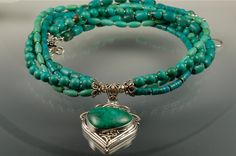 Distinctive Chrysocolla Sterling Silver by Capstonecollection, $185.00