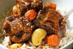 Slow Cooker Oxtail Stew slow cooker oxtail stew recipe The post Slow Cooker Oxtail Stew & Recipes appeared first on Oxtail recipes . Oxtail Recipes Crockpot, Healthy Crockpot Recipes, Slow Cooker Recipes, Cooking Recipes, Ox Tail Slow Cooker Recipe, Recipe For Oxtails, Jamaican Dishes, Jamaican Recipes, Slow Cooking