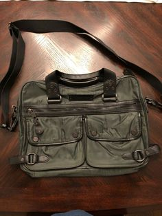 cabbc517ffa Marc NY - Mens Messenger Bag - Dark Green   Gray Synthetic W Blk Leather -  New  fashion  clothing  shoes  accessories  mensaccessories  bags (ebay  link)