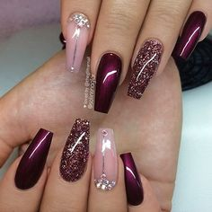 Best Ideas Birthday Nails Winter Nailart The best new nail polish colors and tr Burgundy Nail Designs, Pretty Nail Designs, Burgundy Nails, Winter Nail Designs, Red Nails, Black Nails, Plum Nails, Elegant Designs, Birthday Nail Designs