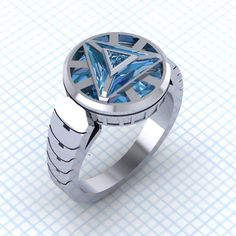 Power Your Jewelry Box With This Arc Reactor Ring by Paul Mitchel Designs #TonyStark #IronMan