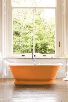 Add Some OrangeBathroom Decorating Ideas  Cheerful Orange Paint and Accessories  . Orange And Grey Bathroom Accessories. Home Design Ideas