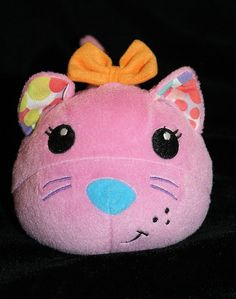 """8"""" Infantino Pink Plush Cat Movers and & Shakers Vibrates Vibrating Musical Toy"""