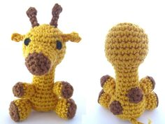 This amigurumi giraffe free crochet pattern is a cute and easy way to make a fun animal plush! Make one with the free pattern below now!