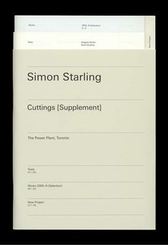 Simon Starling. Cuttings [Supplement]. Photographie: Ian Brown, Oslo / Bibliothek Rijksakademie, Amsterdam