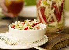 Jicama and Red Pepper Salad recipe from The Culinary Institute of America