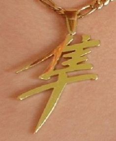 Suzuki Hayabusa Kanji Pendant in GOLD