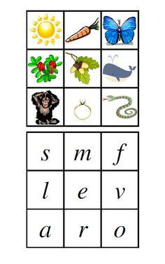 Här kommer den första filen att ladda ner! Den består av tre bokstavsbrickor och är övning för barnen att matcha begynnelseljudet med boks...