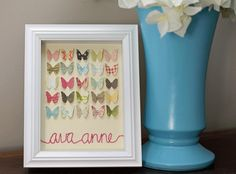 Butterfly Name Picture - Great for a baby's room!