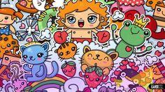 Kawaii graffiti by GARBI GW #doodle #graffiti #art #kawaiib#cute