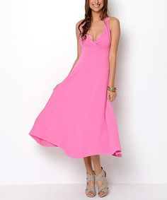 Another great find on #zulily! Pink Halter Dress by Jonäno