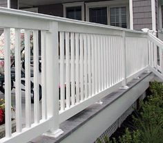 Shop for aluminum railing for your deck or porch on FenceTown. Aluminum railing panels are powder coated and will work on staris or on a balcony. Aluminum Porch Railing, Front Porch Railings, Patio Railing, Front Fence, Veranda Railing, Porch Railing Designs, Railing Ideas, Small Front Porches, Decks And Porches