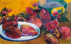 Paul Gauguin / Still Life with Mangos,  1891-95