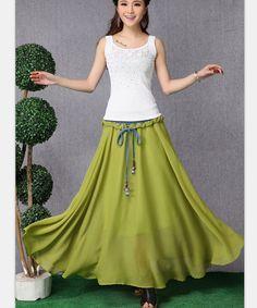 Pure White Long Maxi Skirt High Waisted Soft by LovingbeautyFur
