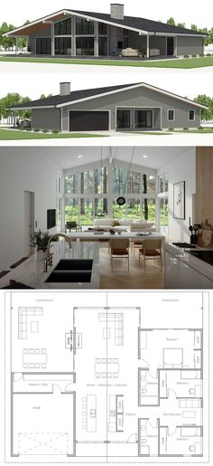 Architektur House Plan, Home Plans, Floor Plans Tips On How To Care For Fresh Pole Barn House Plans, Dream House Plans, Modern House Plans, Small House Plans, House Floor Plans, Barn Plans, Metal Building Homes, Building A House, Minimalist House Design