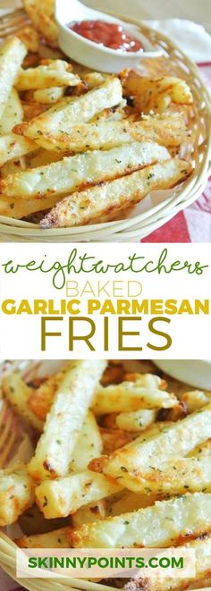 Diet Plan fot Big Diabetes - Baked Garlic Parmesan Fries With Only 5 Weight Watchers Smart Points Doctors at the International Council for Truth in Medicine are revealing the truth about diabetes that has been suppressed for over 21 years. Skinny Recipes, Ww Recipes, Side Dish Recipes, Cooking Recipes, Easy Cooking, Garlic Parmesan Fries, Baked Garlic, Garlic Minced, Snacks