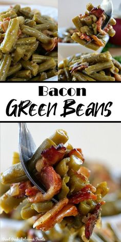 Green Bean Recipes, Lentil Recipes, Bacon Recipes, Side Dish Recipes, Vegetable Recipes, Cooking Recipes, Jam Recipes, Yummy Recipes, Vegetarian Recipes