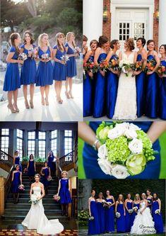 bridesmaid dresses robes de demoiselles d'honneur bleu roi