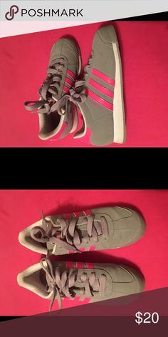 new product b0358 08846 Grey Adidas Hot Pink Accents Size 6.5 ladies great condition adidas Shoes  Athletic Shoes Pink Accents