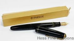 Old Parker Vacumatic Fountain Pen Plunger Fill Screw Cap With Original Box  #Parker