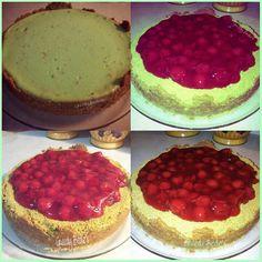 Cherry Pistachio-Almond Cheesecake