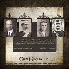 Great Grandfathers - Digital Scrapbook Place Gallery