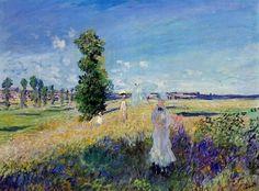 Claude Monet - The promenade, Argenteuil (1875)