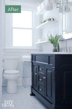 Before and After: A Drastic Bathroom Makeover » Curbly | DIY Design Community