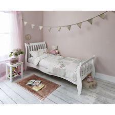 shabby chic white single children beds frame modern girls bedroom furniture bed