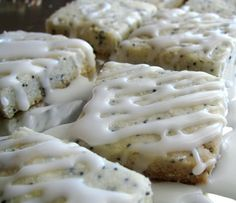 Almond Poppyseed Shortbread. This recipe has been in my favorites file for decades. Delicate & melt-in-your-mouth!