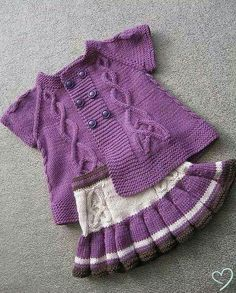 Strick-Kinder-Stricknadeln – selma selma – Join the world of pin Diy Crochet Cardigan, Crochet Baby Jacket, Baby Sweater Knitting Pattern, Knit Baby Dress, Baby Afghan Crochet, Crochet Mittens, Baby Knitting Patterns, Baby Patterns, Knitted Baby