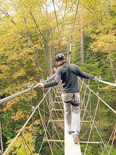 Fall Escape to Mackinac | Midwest Living~ P would hate this suspended boardwalk, I would love it!