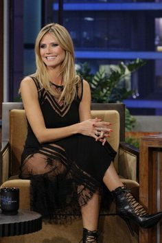 Heidi Klum on 'The Tonight Show with Jay Leno' (January 23). / Heidi Klum en 'The Tonight Show with Jay Leno' (23 de enero).