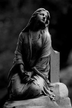 cemetery statue - is it weird that I think this statue looks like me?!