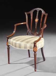 A GEORGE III MAHOGANY ARMCHAIR - English Antique Furniture – Ronald Phillips Antiqu...