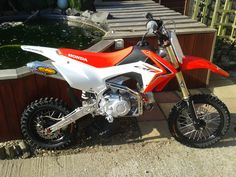 modded crf 110 from the uk   PlanetMinis Forums 125cc Dirt Bike, 110 Dirt Bike, Dirt Bikes For Sale, Motorcross Bike, Aftermarket Motorcycle Parts, Bike Illustration, Ktm, Pocket Bike, Character Quotes