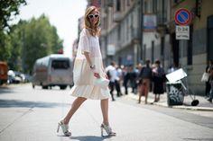 Milan Men's Fashion Week Street Style - Chiara Ferragni - The Cut Photo: YoungJun Koo/I'M KOO